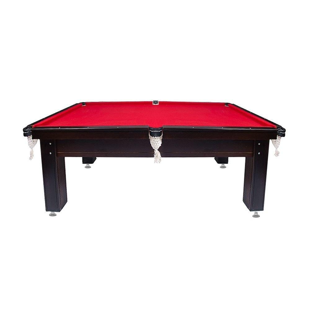 Sinuca Black & Red Semioficial 2,20x1,20m